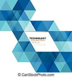Blue geometric modern template for business or technology...
