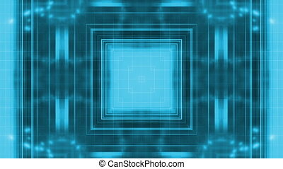 Blue Geometric Particle Loop R33
