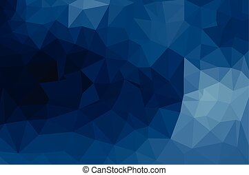 Blue geometric pattern, triangles background