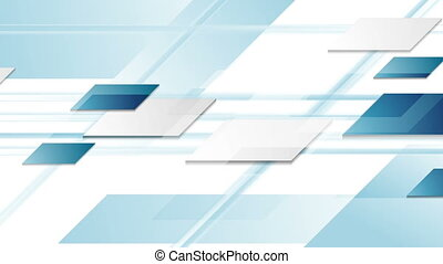 Blue geometric technology abstract video animation