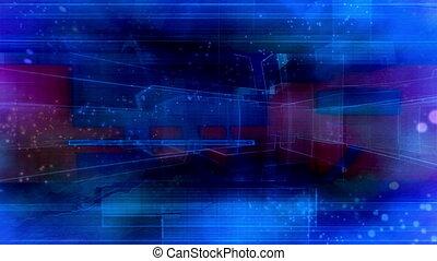 Blue geometric VJ particles loop