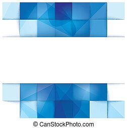 Blue geometrical abstract banner template with a stripe for input in the middle