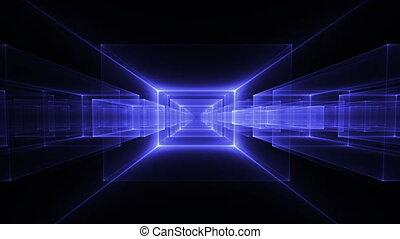 Blue Geometrical Horizon