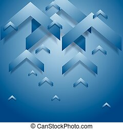 Blue geometry corporate background