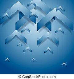 Blue geometry corporate background