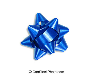 Blue gift bow (+ clipping path)