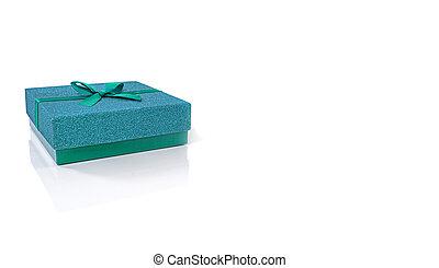 blue gift box isolated on white