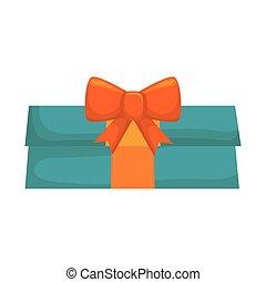 blue gift box present