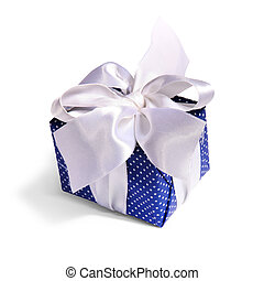 blue gift packing