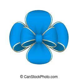 Blue Gift Ribbon Bow