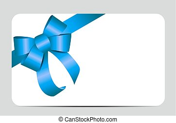 Blue Gift Ribbon. Vector illustration