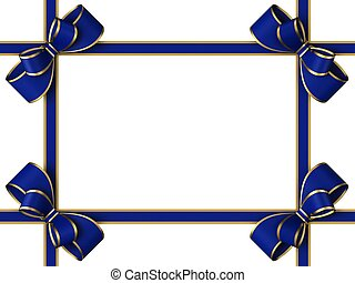 Blue gift ribbon with a bow
