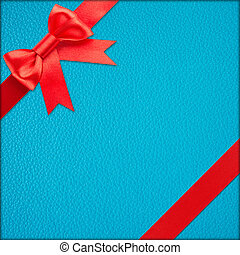 Blue gift with Red bow