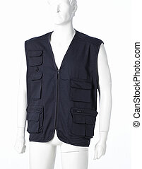 Gilet - Blue Gilet isolated on a white background