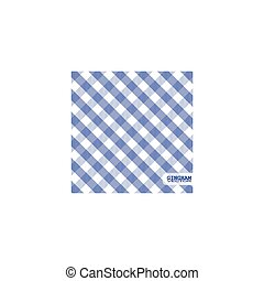 Blue gingham background vector