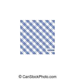 Blue gingham background vector
