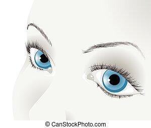 Blue girls eyes
