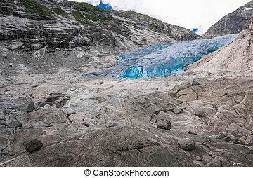 Blue glacier Nigardsbreen in Norway