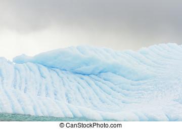 Blue glacier wall, Antarctica