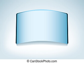 Blue glass background