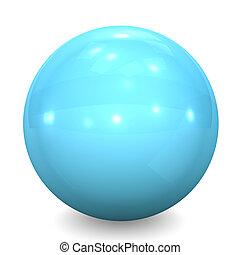 Blue Glass Ball