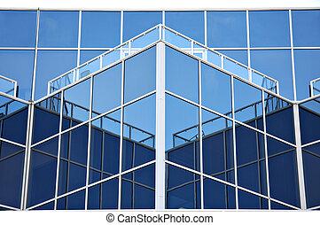 Blue glass building
