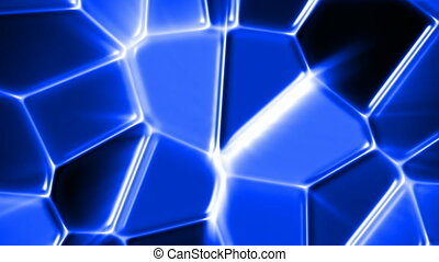 Blue glass mosaic - Abstract blue mosaic motion background (...