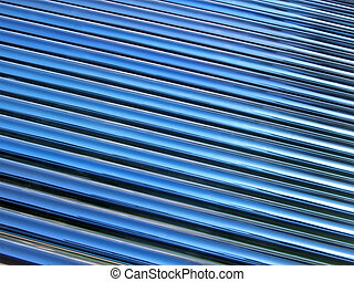 abstract blue glass tube heap, new solar panel details