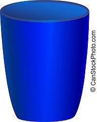 blue glass vector illustration on white background