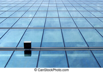 Blue glass wall