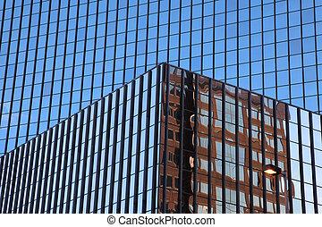 Blue glass windows