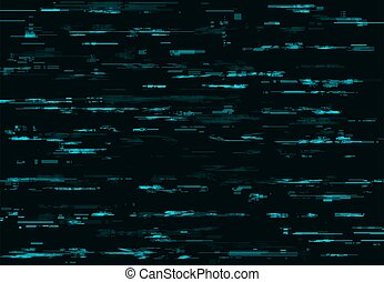 Blue glitch vector background with digital pixel noise texture. TV or computer screen pattern with video noise, code error or television signal fail, data decay, monitor crash and no signal effects