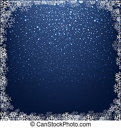 Blue Glitter Background With Bokeh Winter Border