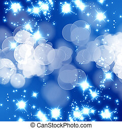 blue glitter  - bright glitter on a soft blue background