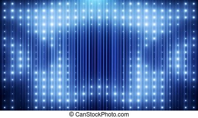 Blue glitter led loop animated VJ background