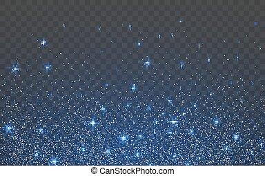Blue glitter sparkle on a trans Blue glitter sparkle on a ...