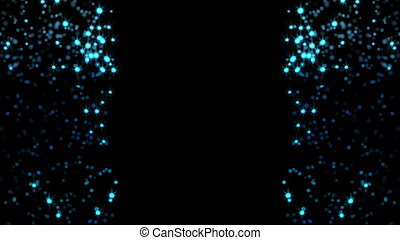 blue glittering particle background