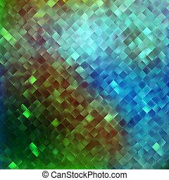Blue glitters on a soft blurred background. EPS 10