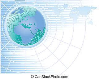 Blue Global Business Illustration