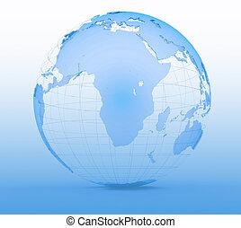 Blue globe art