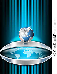 Blue Globe Business Background