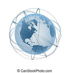 globe frame and tracks