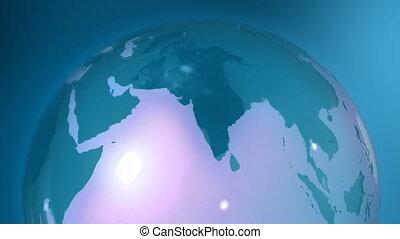 Blue globe in loop