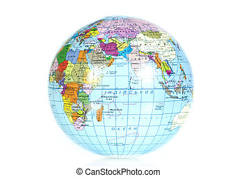 globe - Blue globe isolated on the white background