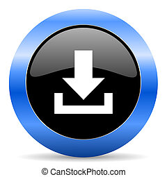 blue glossy icon