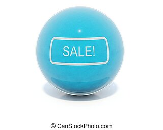 Blue glossy sale icon