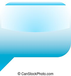 Blue glossy speech bubble blank location icon