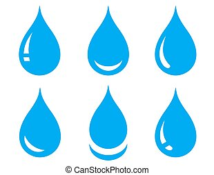 water drops set