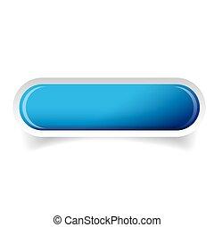 Blue glossy web bar button vector