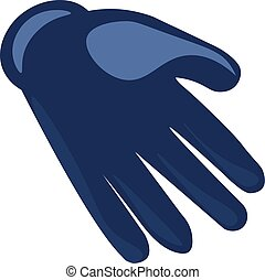 Blue glove, illustration, vector on white background.